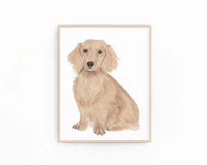 Personalized Dachshund (Red, Smooth) Fine Art Prints
