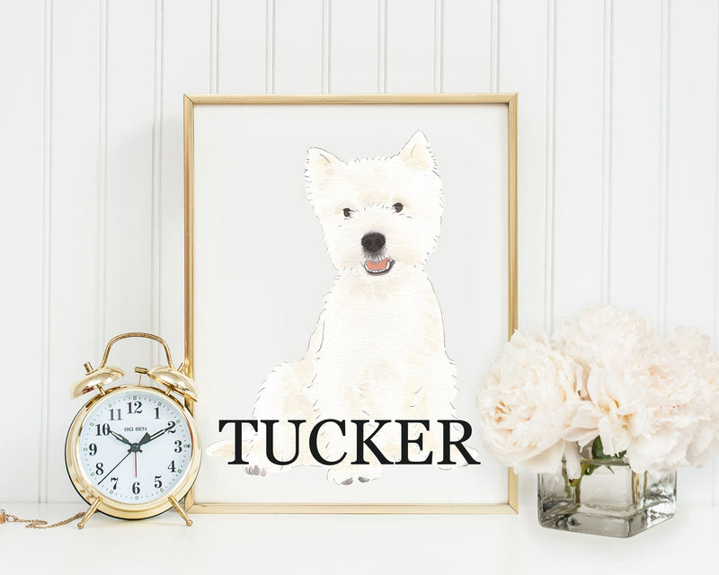 Personalized West Highland Terrier Fine Art Prints