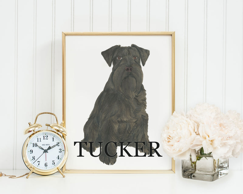 Personalized Schnauzer (Black) Fine Art Prints