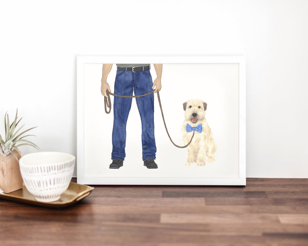Dog Dad & Wheaten Terrier Walkin' Fine Art Print