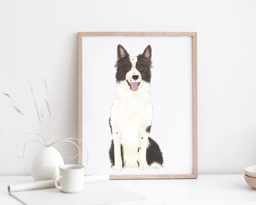 Personalized Border Collie Fine Art Prints