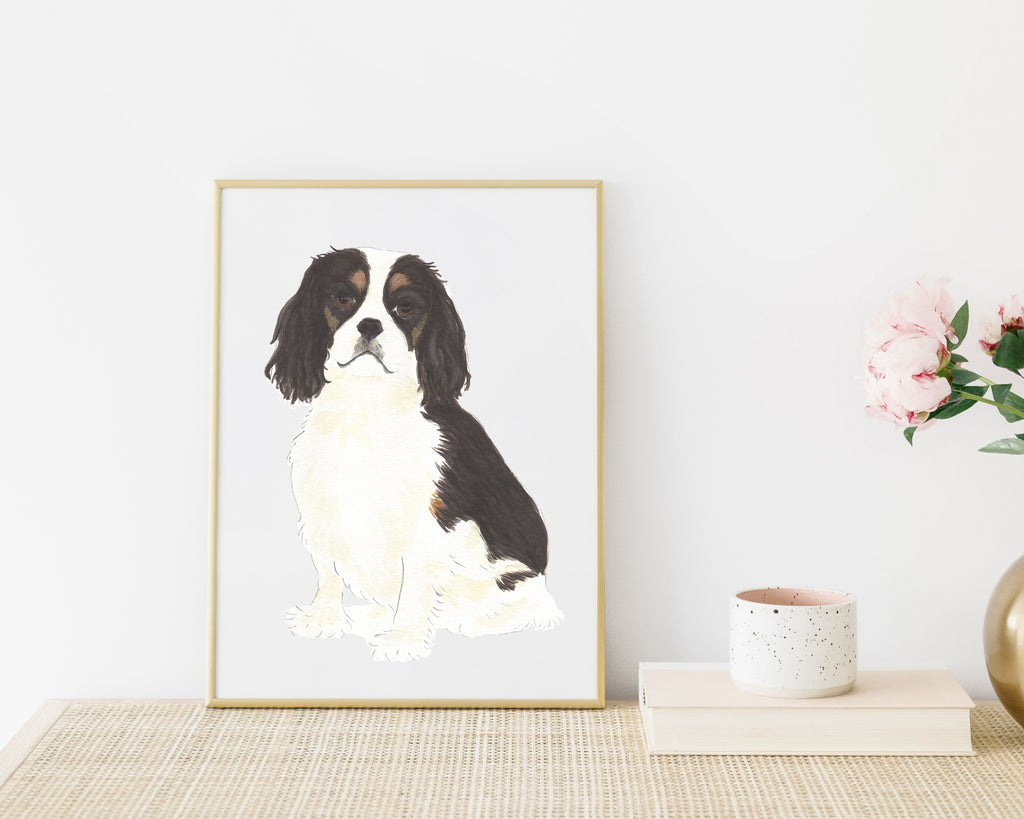 Personalized Cavalier King Charles Spaniel (Tricolor) Fine Art Prints