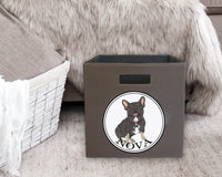 Black & Tan Tricolor French Bulldog Storage Bin