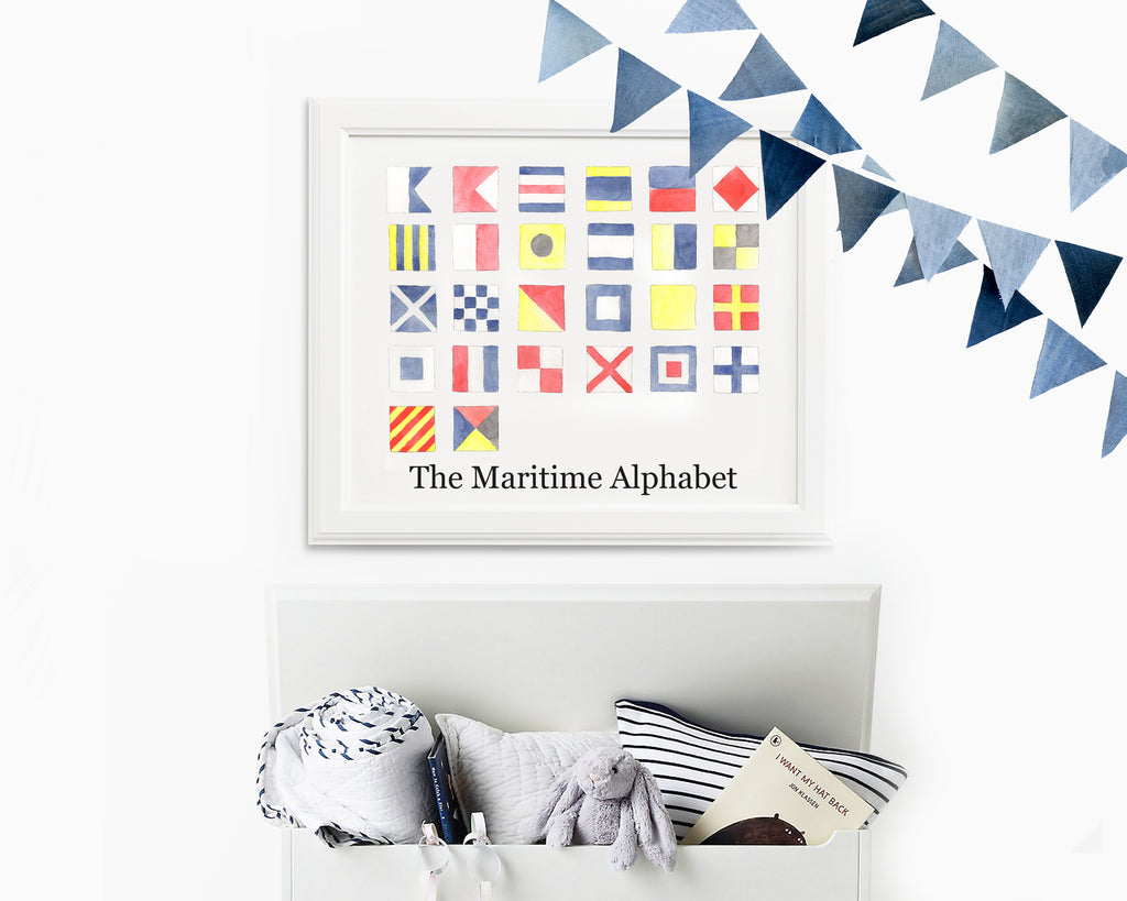 Watercolor Maritime Alphabet Fine Art Prints