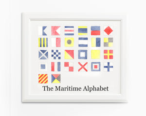 Nautical Flag Initials Fine Art Prints