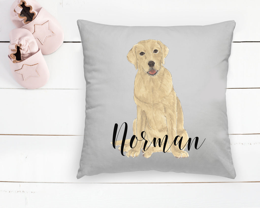 Custom Pet Painting Reversible Throw Pillow