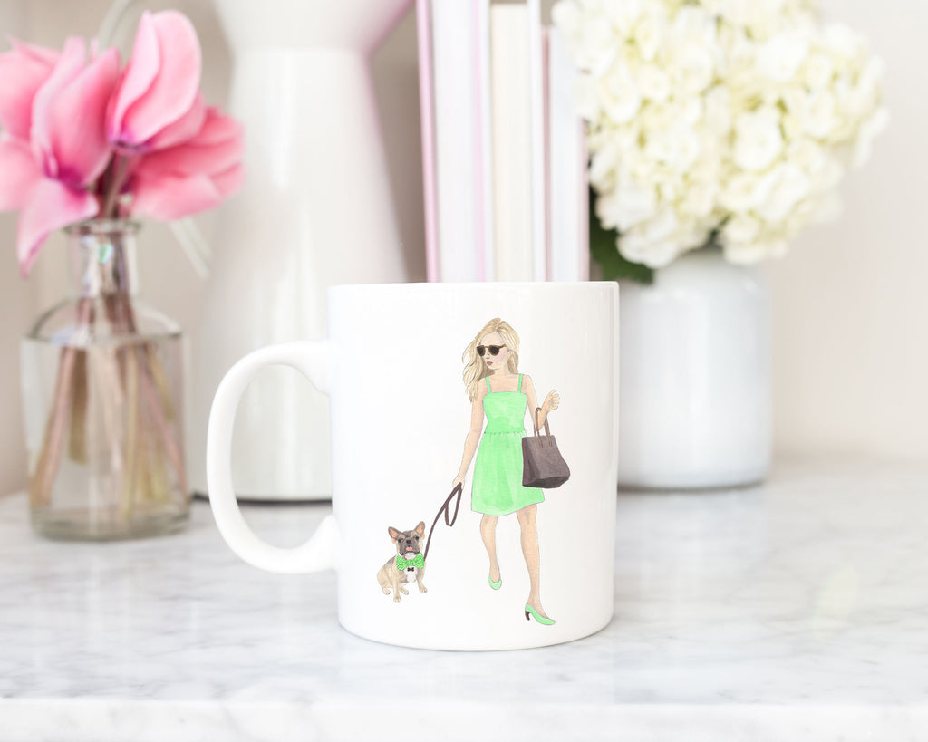 Olivia & The Masked Frenchie 15 oz. Ceramic Mug