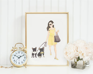 "11x14"" Olivia & The Black & Tan Frenchie Fine Art Print"
