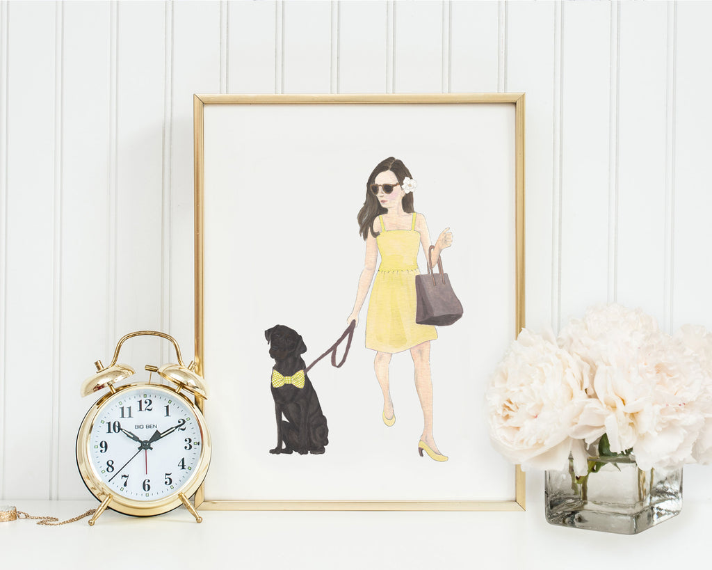 "11x14"" Olivia & The Black Lab Fine Art Print"