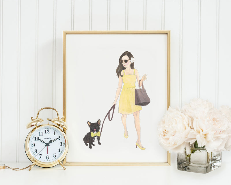 "8x10"" Olivia & The Black Frenchie Fine Art Print"