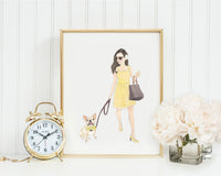 "8x10"" Olivia & The Fawn Frenchie Fine Art Print"