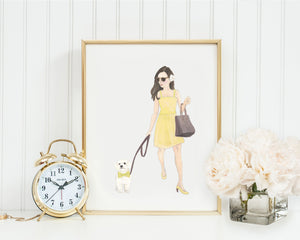"11x14"" Olivia & The White Floof Fine Art Print"
