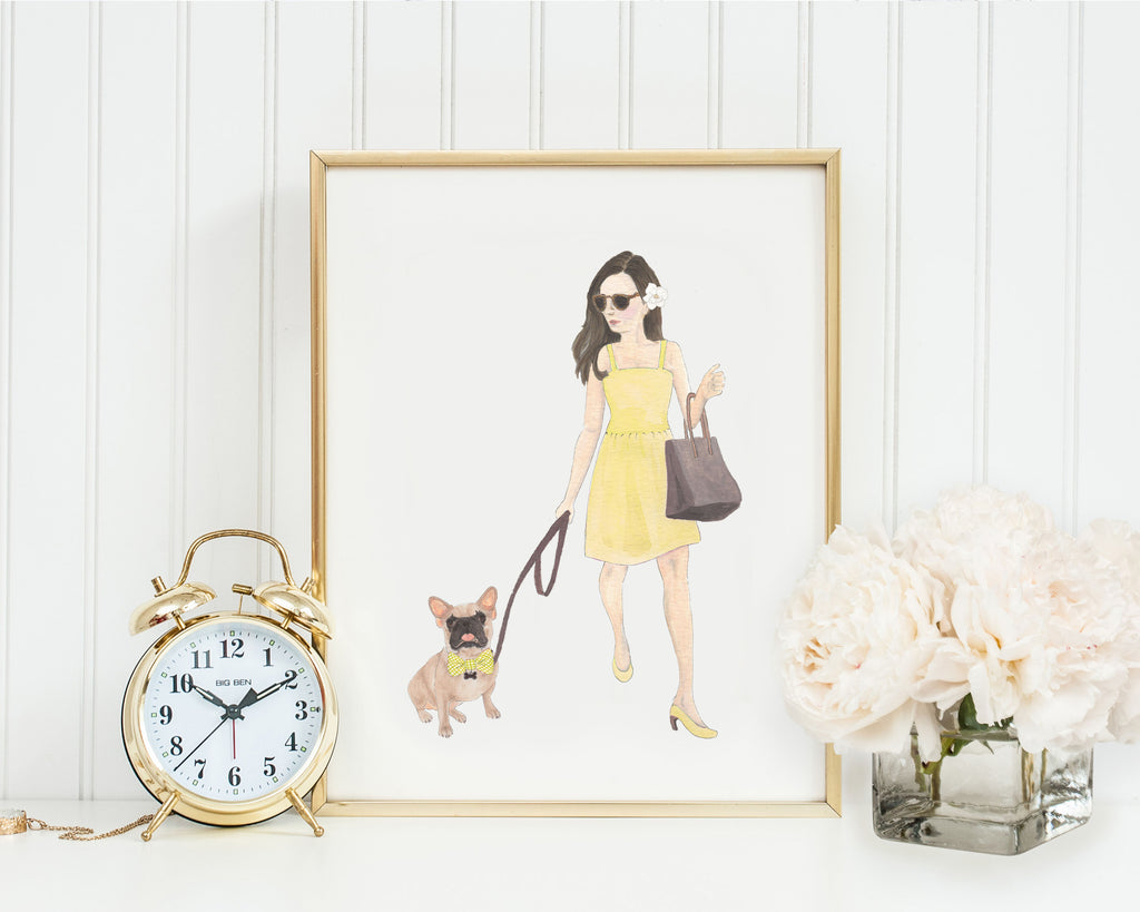 "11x14"" Olivia & The Masked Frenchie Fine Art Print"