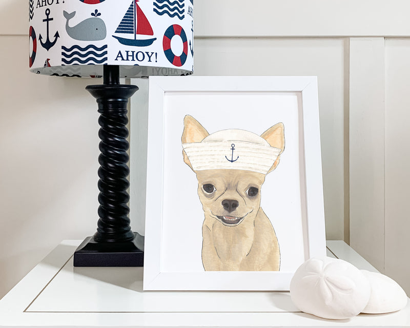 Chihuahuas in Hats Prints