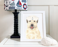 Wheatens in Hats Prints