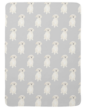 Custom Pet Painting Fleece Baby Blanket