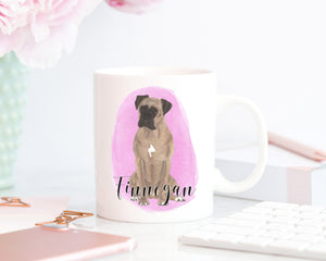 Personalized Boxer (Fawn) Ceramic Mug
