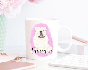 Personalized English Bulldog (White) Ceramic Mug