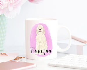 Personalized Doodle (Cream) Ceramic Mug