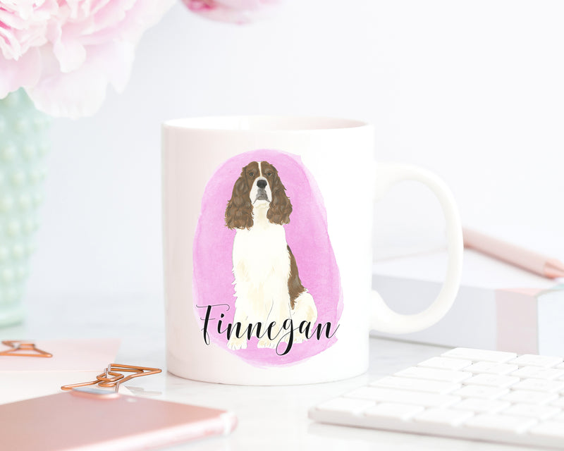 Personalized English Springer Spaniel (Liver) Ceramic Mug