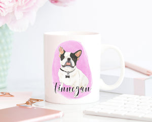 Personalized French Bulldog (Pied) Ceramic Mug