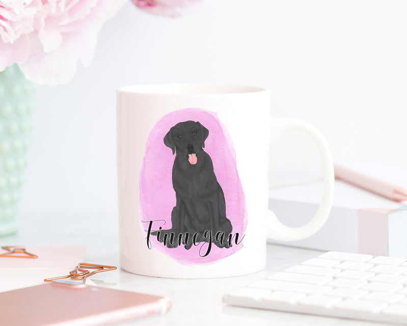Personalized Labrador (Black) Ceramic Mug