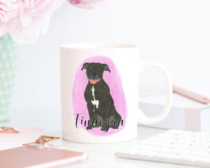 Personalized Pitbull (Black) Ceramic Mug