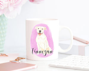 Personalized Pitbull (White) Ceramic Mug