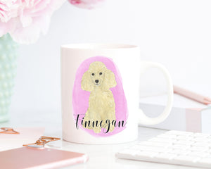 Personalized Poodle (Blonde) Ceramic Mug