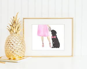 Black Lab Walkin' Fine Art Print