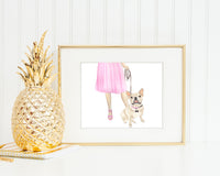 Frenchie Walkin' Fine Art Print (Fawn)