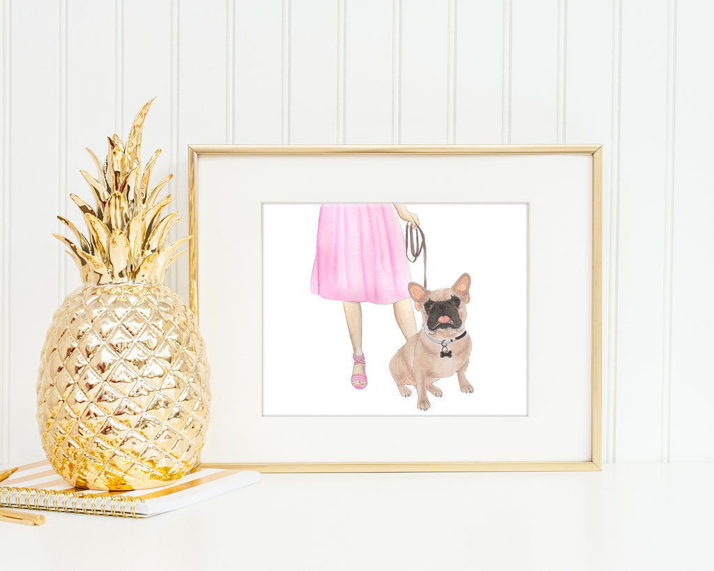 Frenchie Walkin' Fine Art Print (Masked)