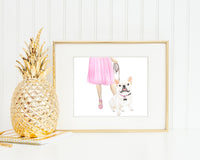 Frenchie Walkin' Fine Art Print (Pied)