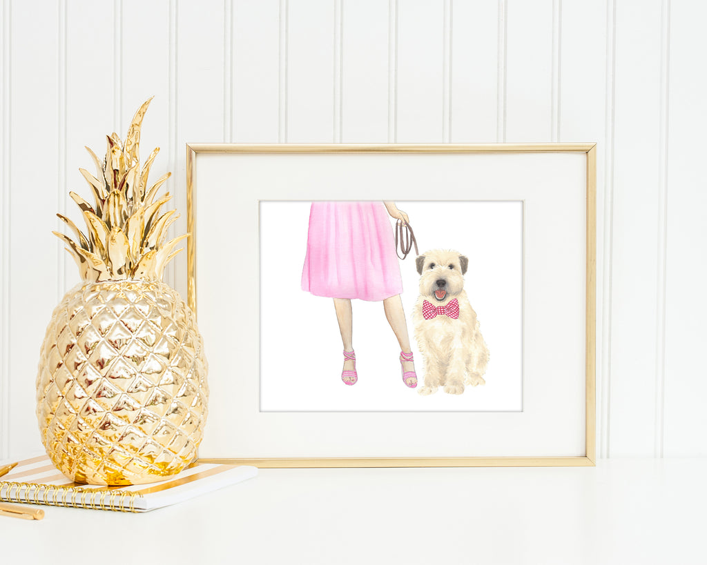 Wheaten Walkin' Fine Art Print
