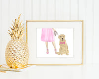 Yellow Lab Walkin' Fine Art Print
