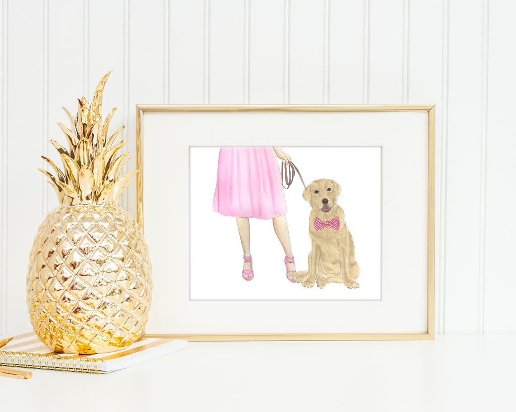 Custom Dog Walkin' Fine Art Print