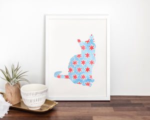 Chicago Cat Fine Art Print (#1)