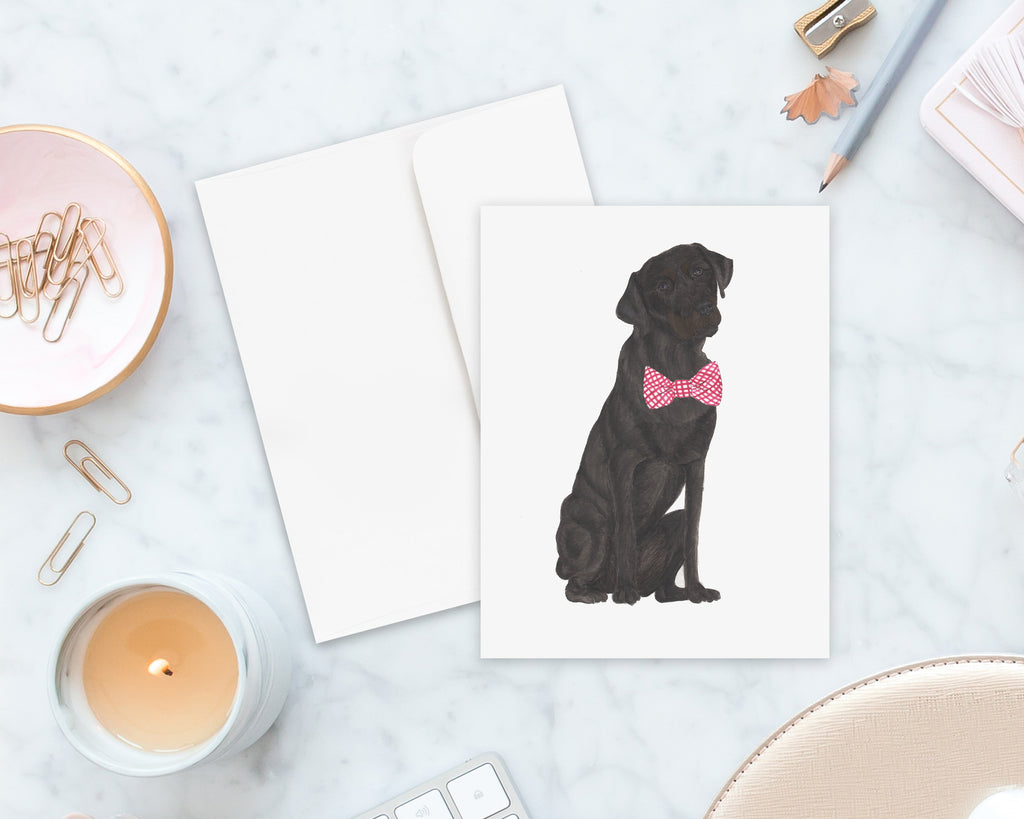 Black Lab Big Baby Folded Cards (set of 10)