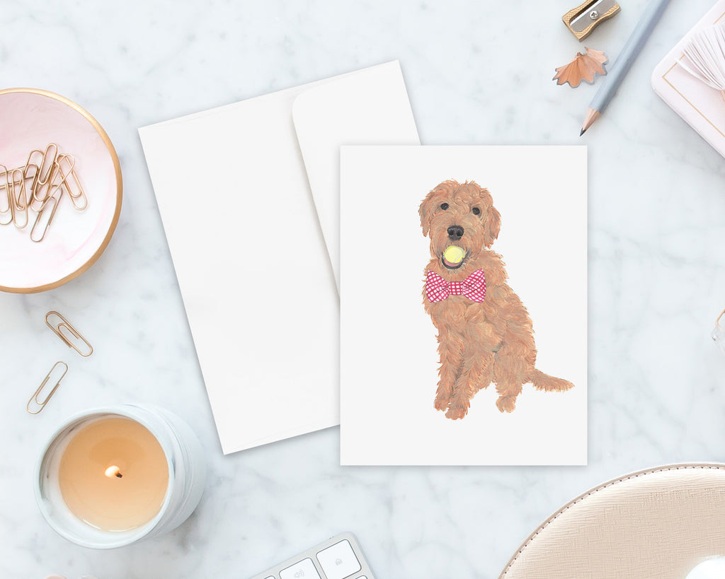 Golden Doodle Big Baby Folded Cards (set of 10)
