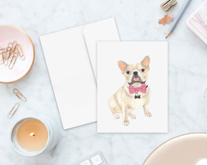 Fawn Frenchie Big Baby Folded Cards (set of 10)