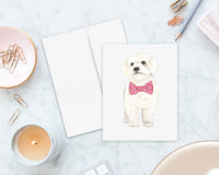 White Floof Big Baby Folded Cards (set of 10)