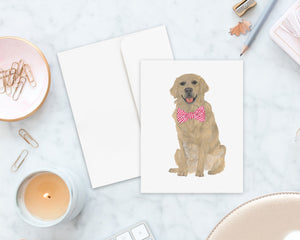 Golden Retriever Big Baby Folded Cards (set of 10)