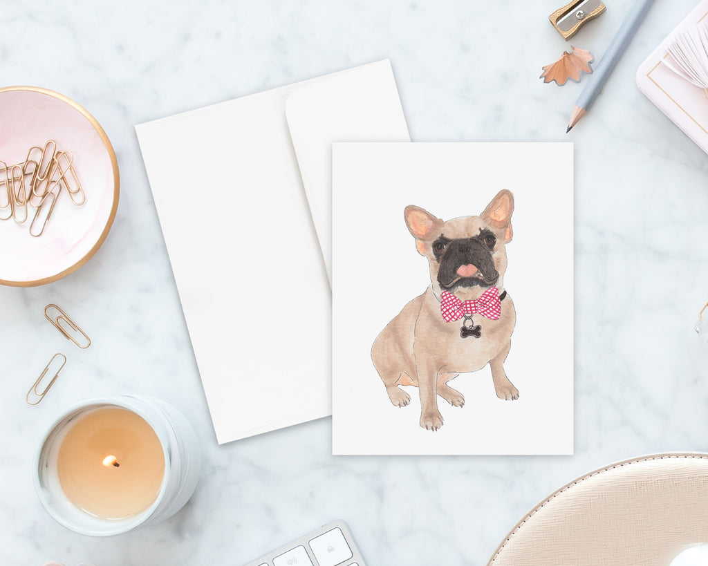 Masked Frenchie Big Baby Folded Cards (set of 10)