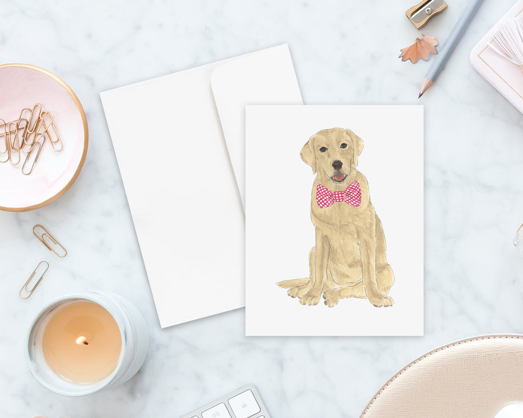Yellow Lab Big Baby Folded Cards (set of 10)