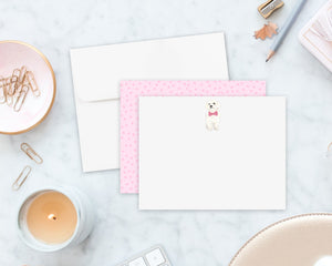 White Floof Little Baby Flat Cards (set of 10)