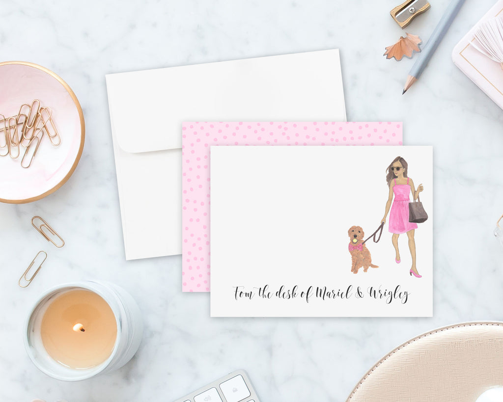 Olivia & The Doodle Flat Cards (set of 10)