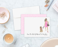 Olivia & The Golden Flat Cards (set of 10)