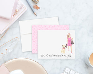 Olivia Flat Cards (set of 10)