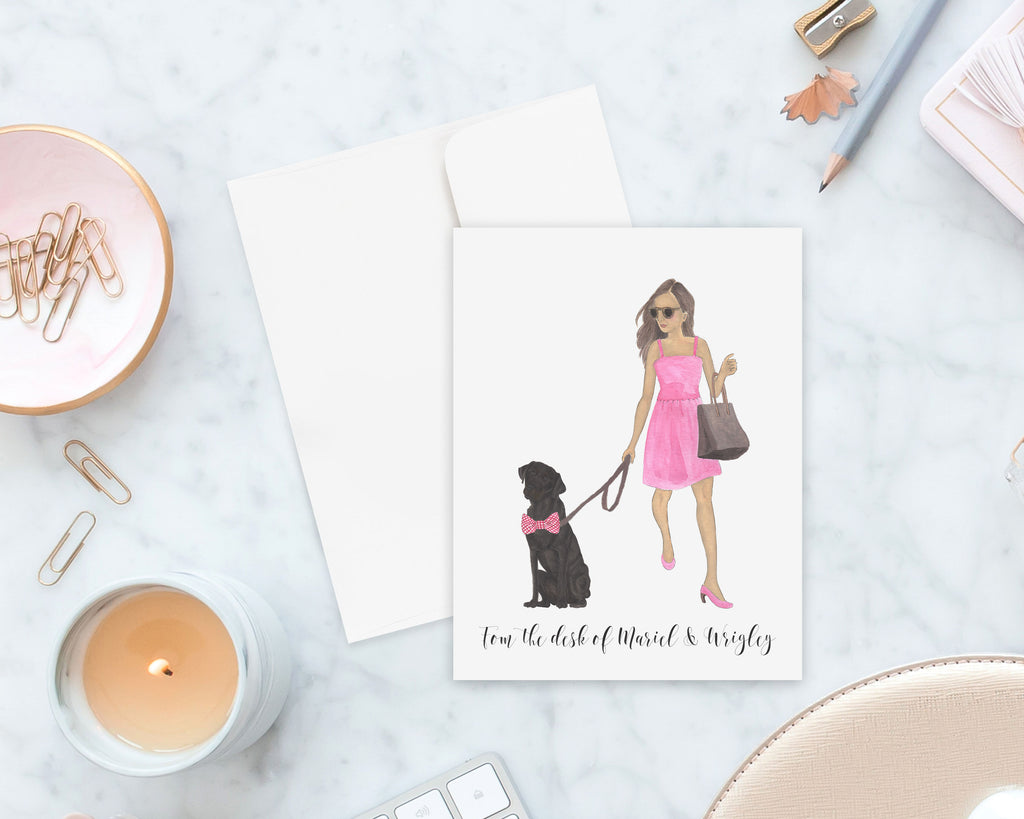 Olivia & The Black Lab Folded Cards (set of 10)