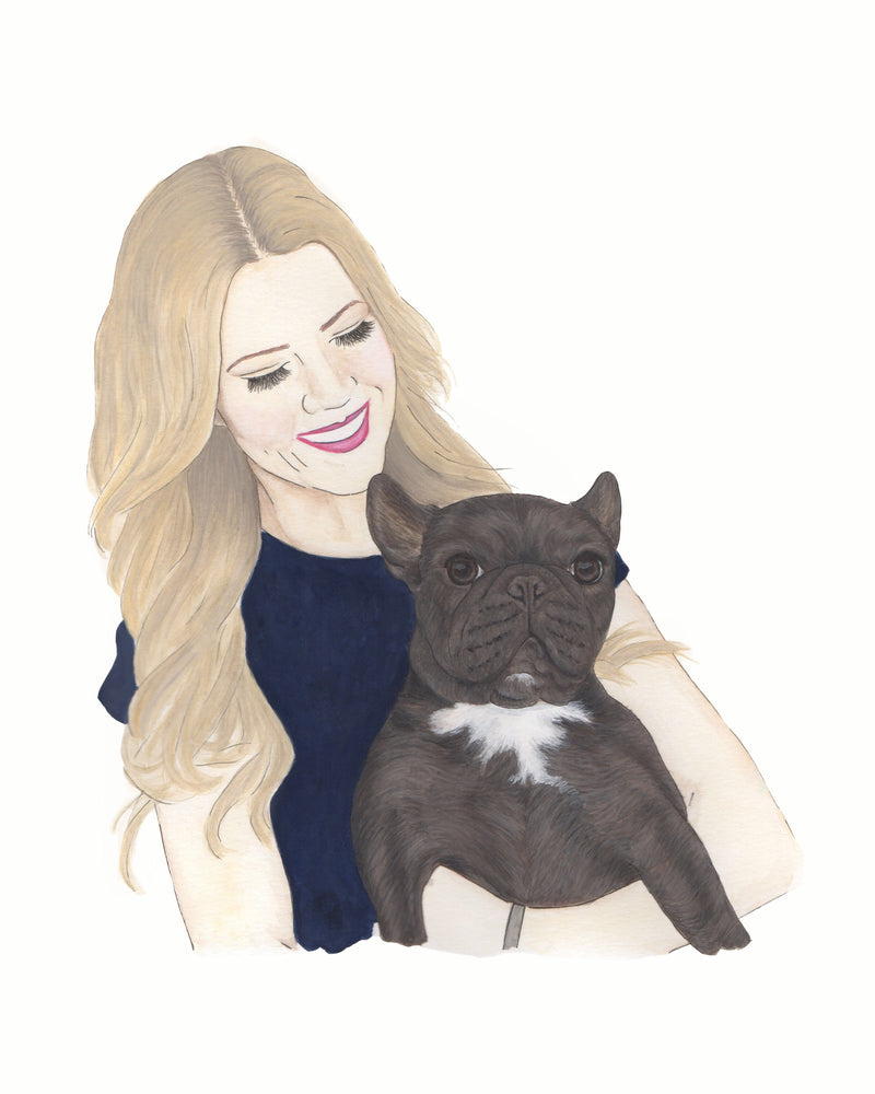Custom Dog Mom Painting